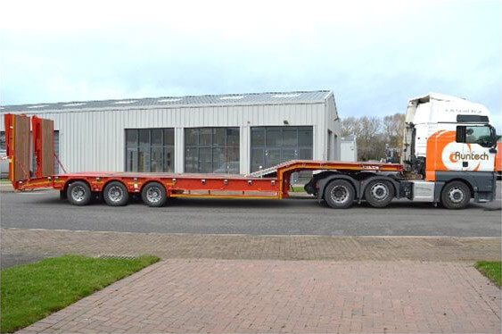 GTS60/3 - 19.5 Heavy Duty Plant Stepframe Trailer