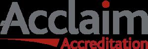 Acclaim Accreditation logo.